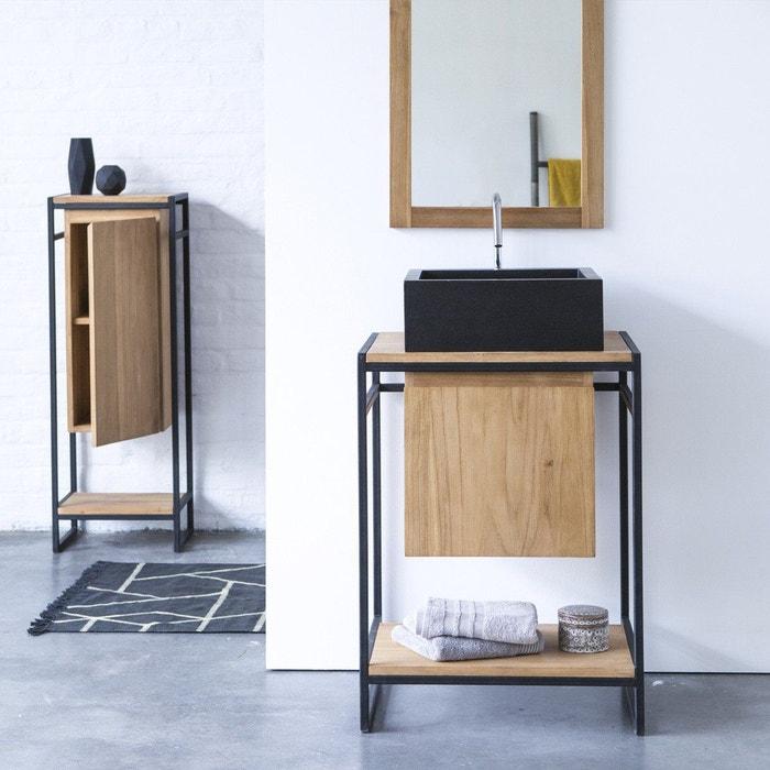 Meuble Salle de bain en métal et bois de teck 60 Michal