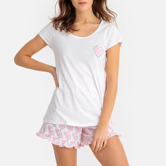 4ec1893d9 Pijama con short especial para embarazo estampado corazón La Redoute  Maternité