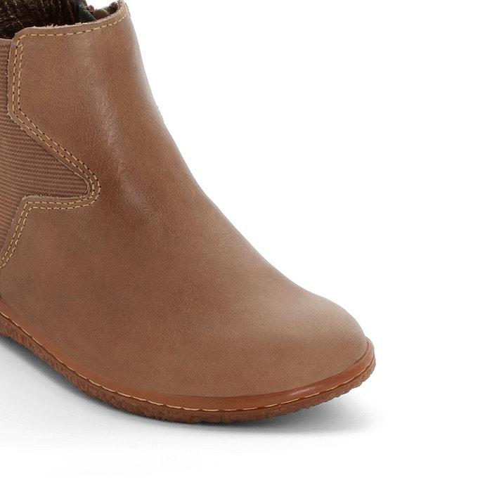 Boots cuir vermillon Kickers   La Redoute d169bb3a0bc8