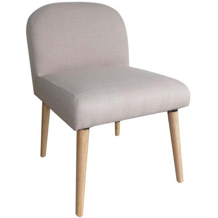 chaise en toile effet lin oslo jardindeco la redoute. Black Bedroom Furniture Sets. Home Design Ideas