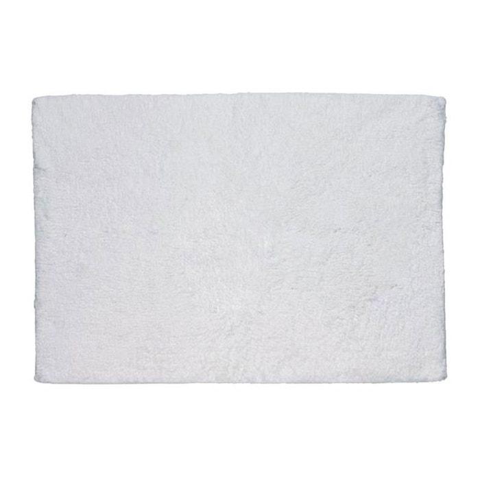 Tapis de bain rectangulaire 100 coton uni blanc 1775g - La redoute tapis salle de bain ...