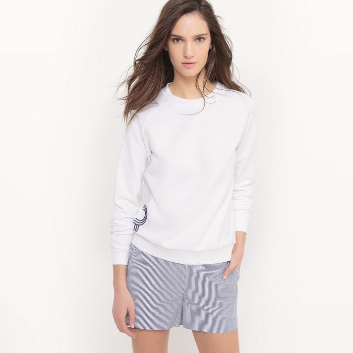 Image Organic Cotton Slogan Sweatshirt La Redoute Collections