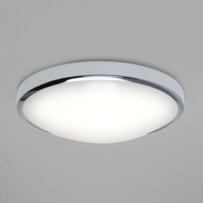 Plafonnier salle de bain osaka led d31,2 cm ip44 chrome Astro | La ...