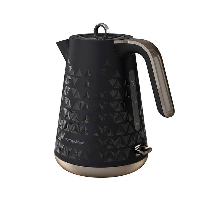 bouilloire lectrique sans fil prism m108251ee noir morphy richards la redoute. Black Bedroom Furniture Sets. Home Design Ideas
