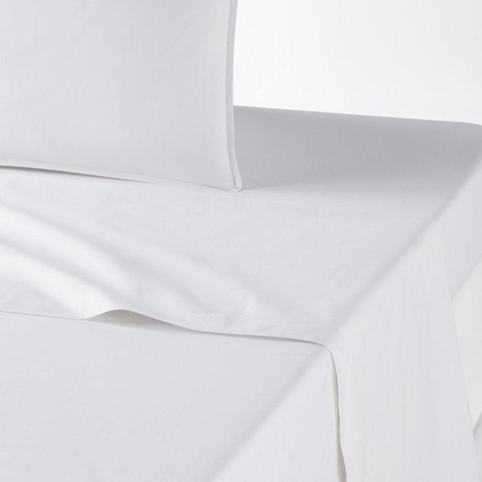 Drap Plat Uni En Percale De Coton Biologique