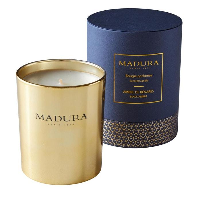 Bougie parfumée Verre AMBRE DE BENARES Or  MADURA image 0
