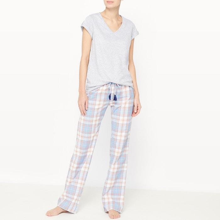 afbeelding 2-delige pyjama met ruitenprint La Redoute Collections