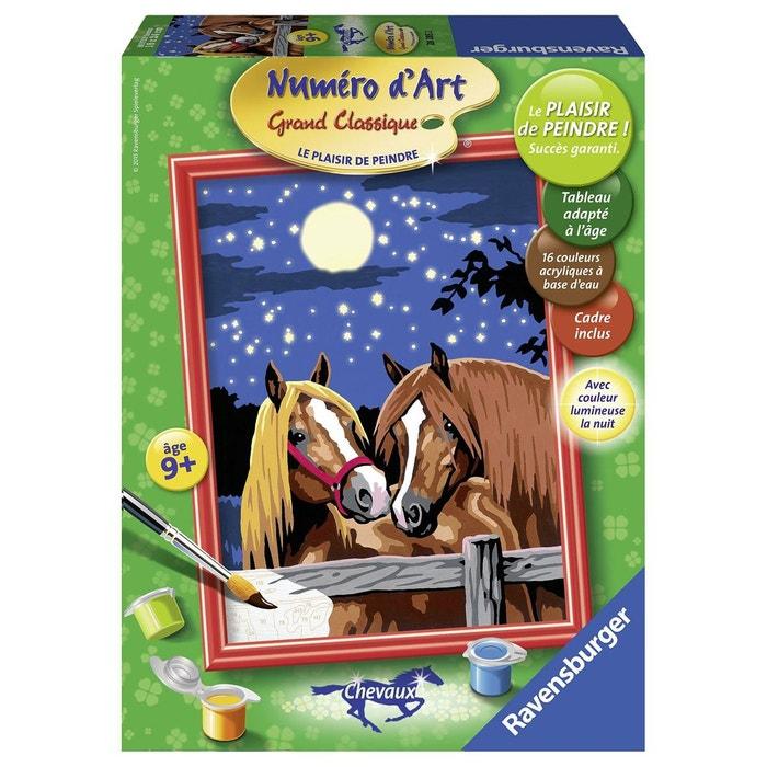 peinture au num ro num ro d 39 art moyen format chevaux romantiques ravensburger la redoute. Black Bedroom Furniture Sets. Home Design Ideas