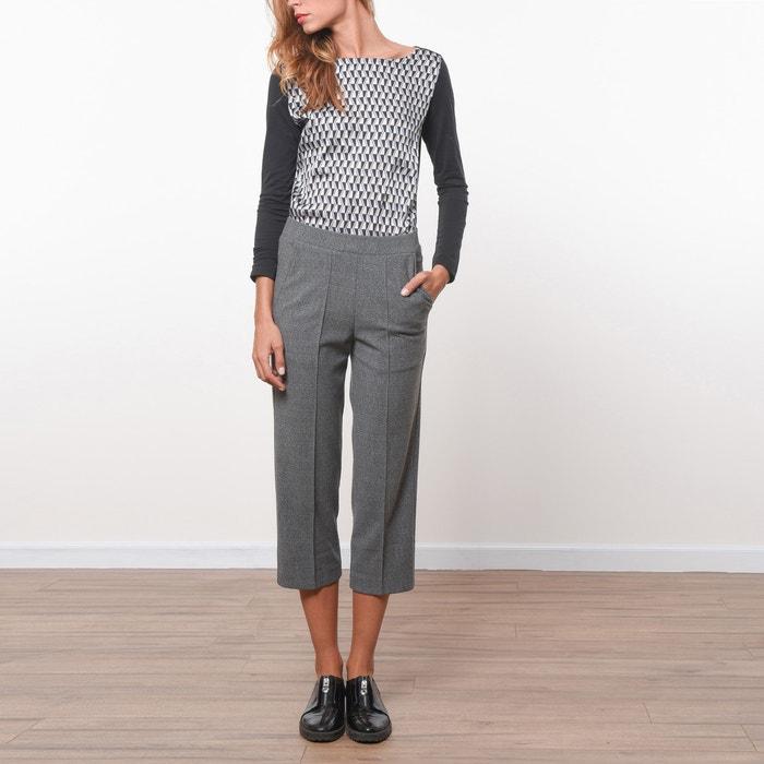 Image Straight-Cut Cropped Trousers JOE RETRO