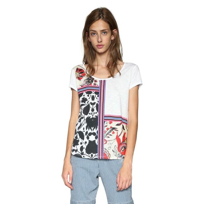Image T-shirt scollo rotondo fantasia grafica DESIGUAL