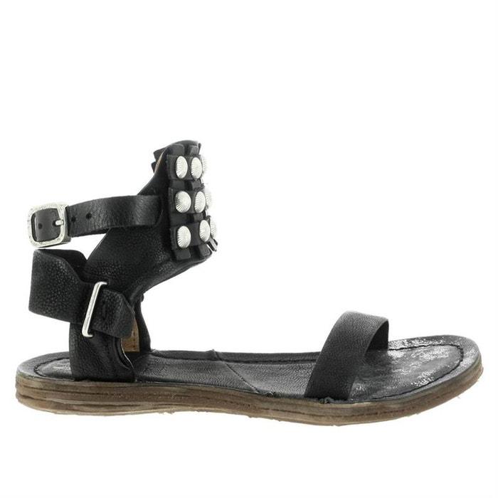Sandales  /  nu-pieds cuir  noir Airstep As98  La Redoute