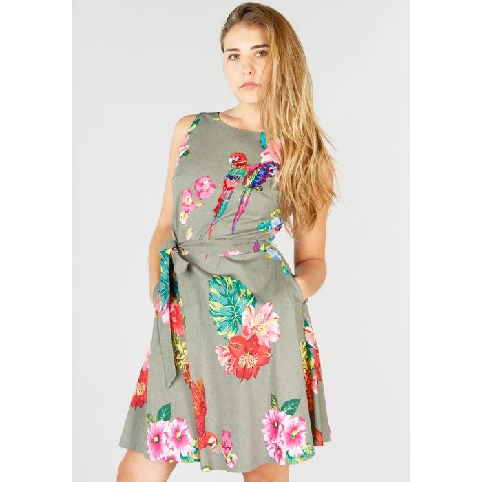 Floral Print Skater Dress  RENE DERHY image 0