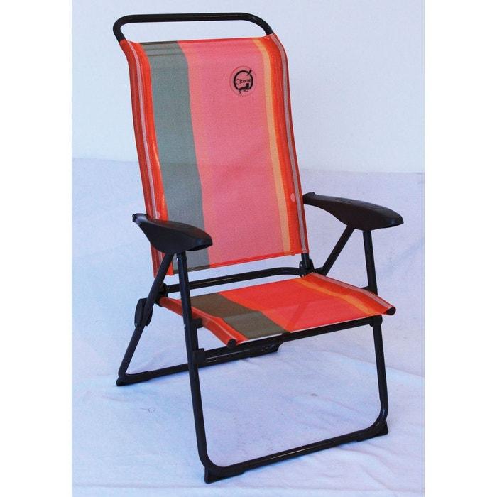 fauteuil de camping 5 positions ocamp la redoute. Black Bedroom Furniture Sets. Home Design Ideas
