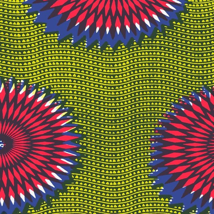 Espadrilles imprimées wax made in france vert clair La Brousse   La Redoute af730c33d159