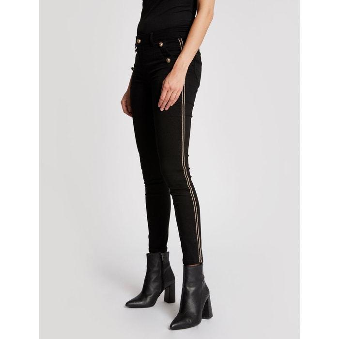 Pantalon à galons et boutons dorés noir Morgan   La Redoute 6f2a121baafe