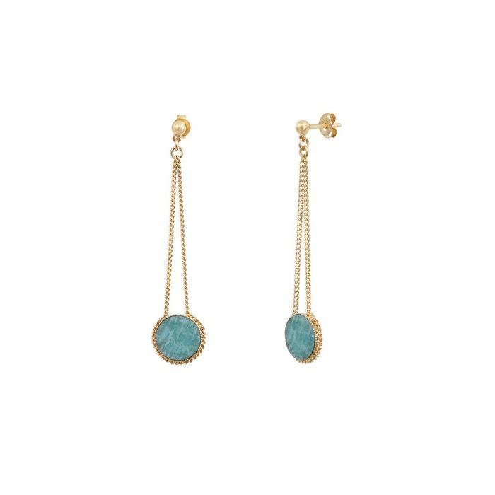 Boucles d'oreilles longues dorées à l'or fin amazonite lady bleu Caroline Najman | La Redoute Vente Pas Cher Réduction Authentique En Ligne wQAcXOw4Rn