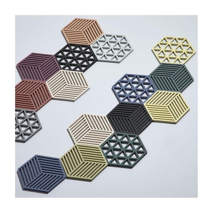 Dessous de plat design hexagone silicone gris gris clair Wadiga | La ...