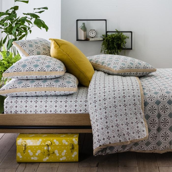 capa de edredon estampada salernes estampado cinzento la. Black Bedroom Furniture Sets. Home Design Ideas