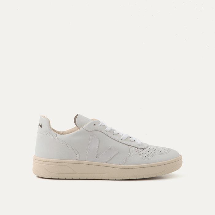 63b216b01d36d3 V10 leather trainers , white, Veja | La Redoute