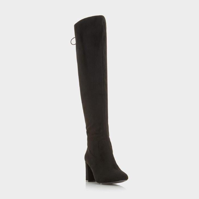 Bottes au genou à lacets - saffy  noir micro fibre Head Over Heels By Dune  La Redoute