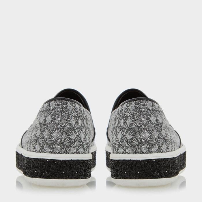 Baskets à enfiler avec semelle tendance - exchange étain fabric Dune London