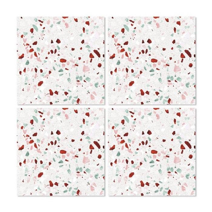 Stickers pour Carrelage de Salle de Bain ou Cuisine Terrazzo 03 - Set de  4  WADIGA image 0