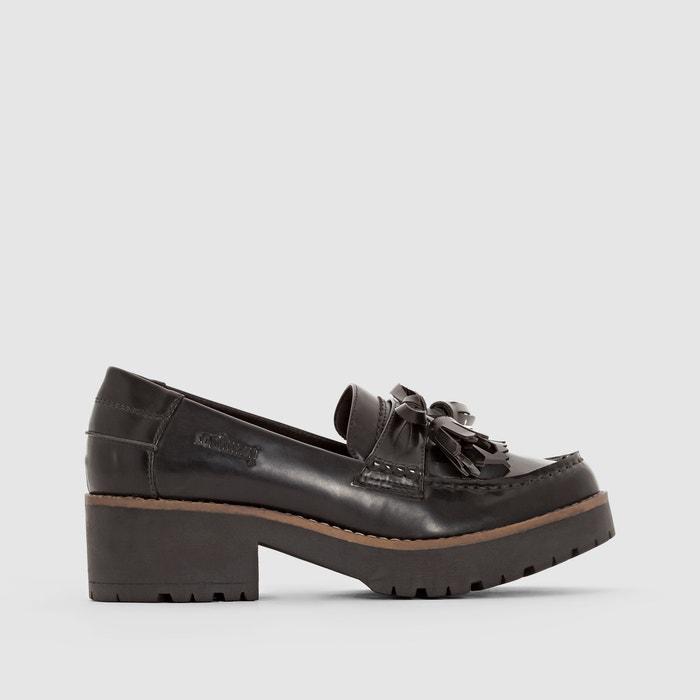 фото Мокасины на каблуке, с кисточками, CHERLYN COOLWAY