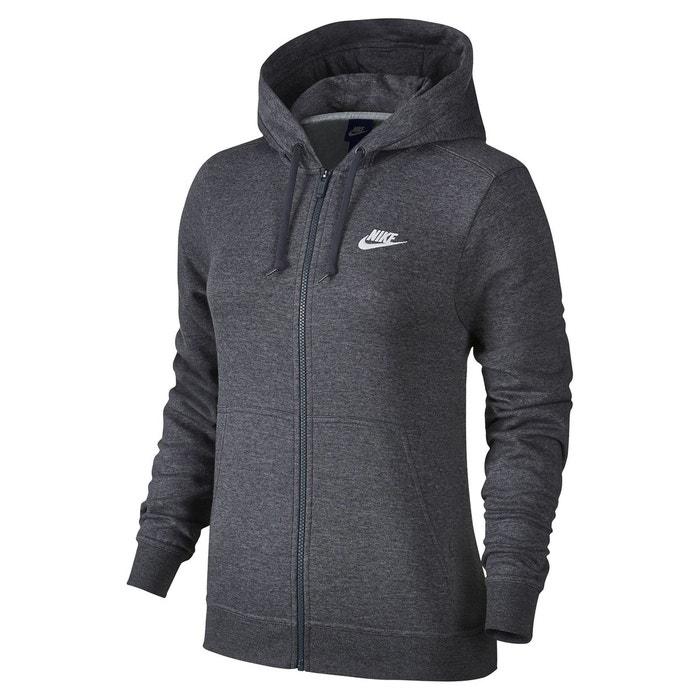 Sweat à capuche sportswear gris anthracite Nike   La Redoute e8bc09b1e31f