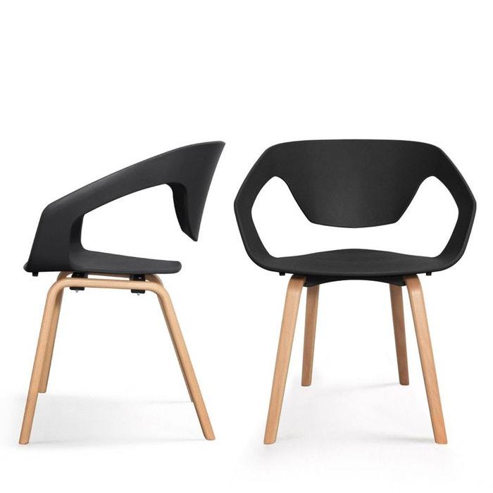 lot de 2 chaises design scandinave danwood drawer la redoute. Black Bedroom Furniture Sets. Home Design Ideas