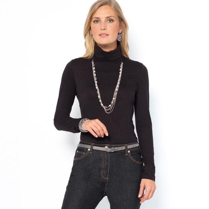 T-shirt col roulé, coton & modal ANNE WEYBURN