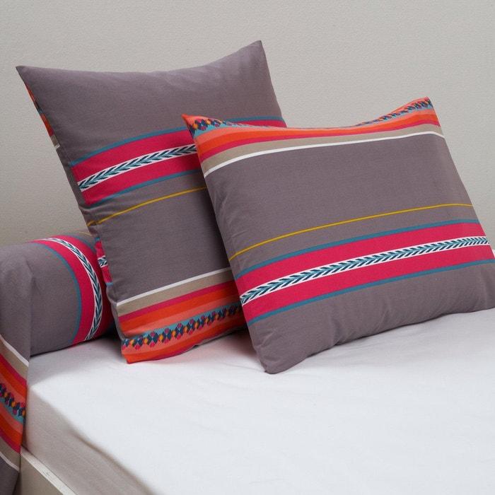 taie d 39 oreiller et taie de traversin nazca imprim violet la redoute interieurs la redoute. Black Bedroom Furniture Sets. Home Design Ideas