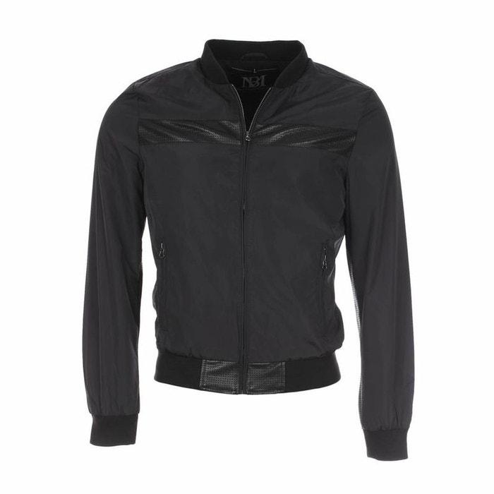 Blouson court en toile enduite polyester noir Best Mountain