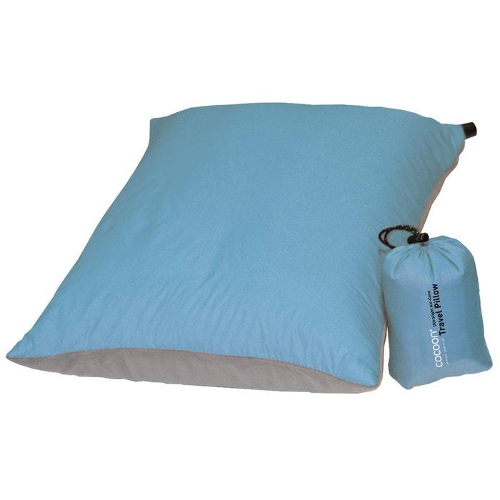 Air core pillow large ultralight bleu clair gris bleu for Cocoon kussen