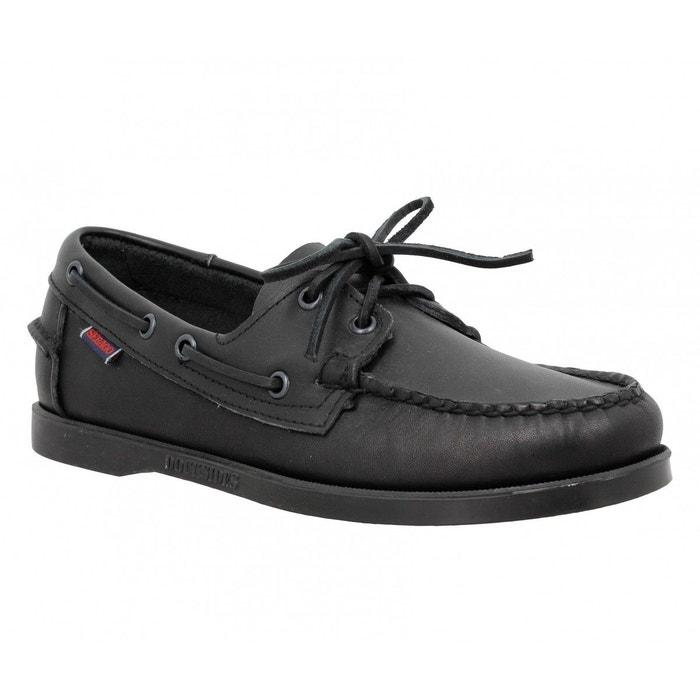 chaussures bateaux homme sebago docksides cuir homme black black sebago la redoute. Black Bedroom Furniture Sets. Home Design Ideas