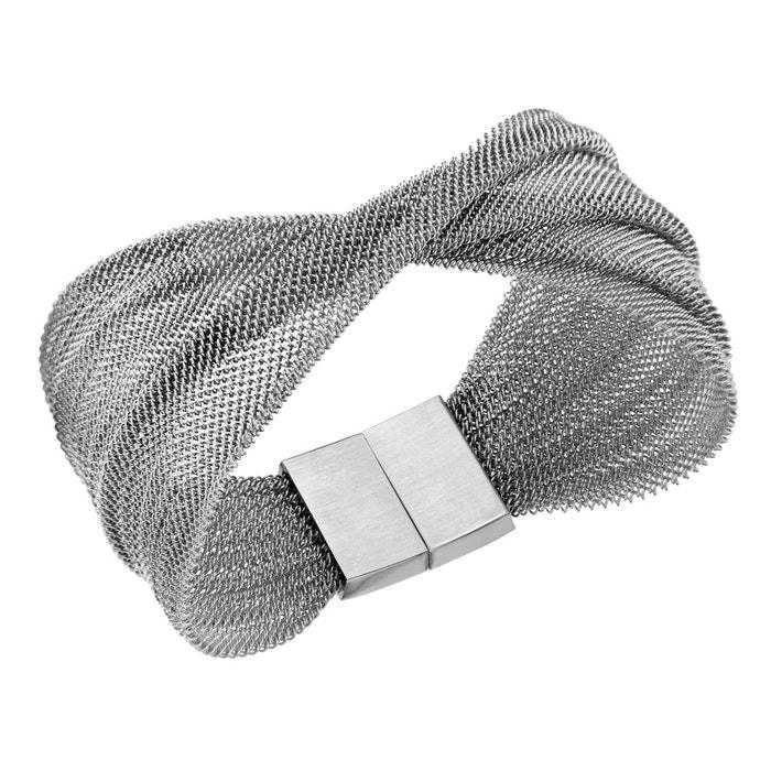 Bracelet 18 cm drapé croisé acier inoxydable couleur unique So Chic Bijoux | La Redoute Choix Pas Cher v455st