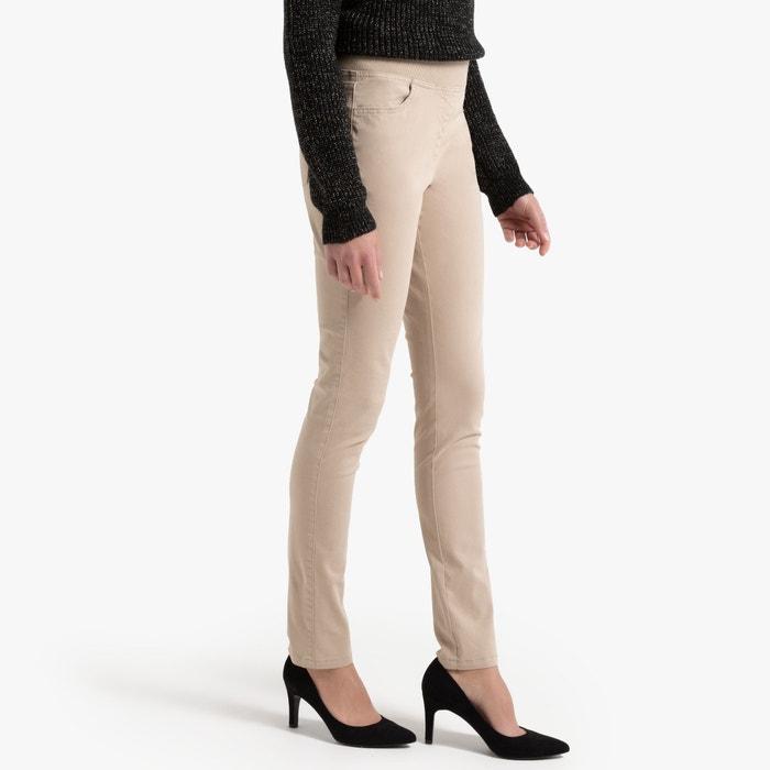 Rechte broek, 5-pockets, katoen, elastische tailleband  ANNE WEYBURN image 0