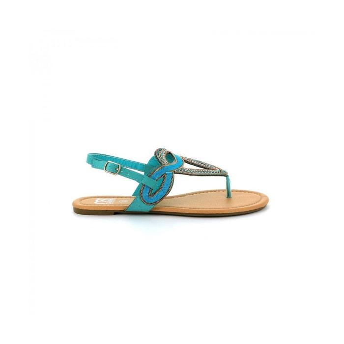 Sandales orientales quizz  turquoise Cassis Cote D'azur  La Redoute