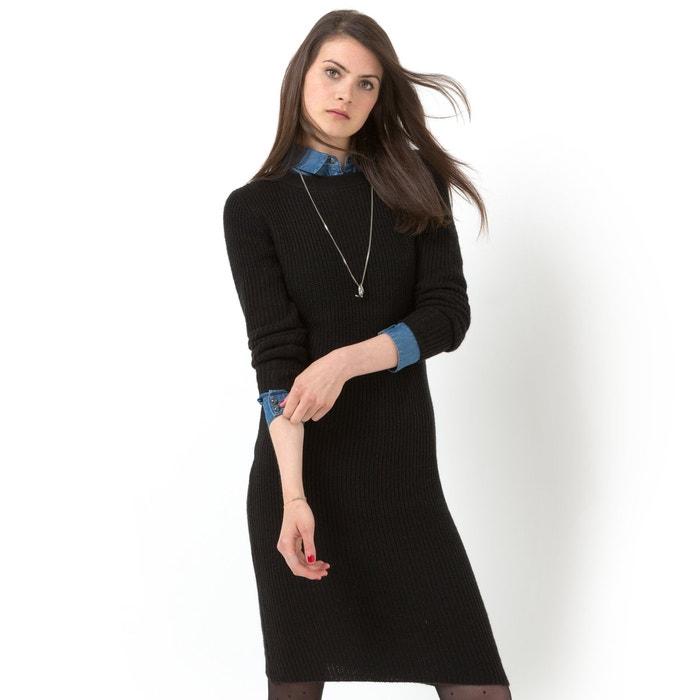 Image Ribbed Knit Long-Sleeved Round Neck Dress LES PETITS PRIX