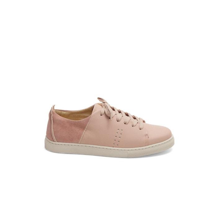 Baskets en cuir renée rose pâle M. Moustache dernier YT6TX4t8