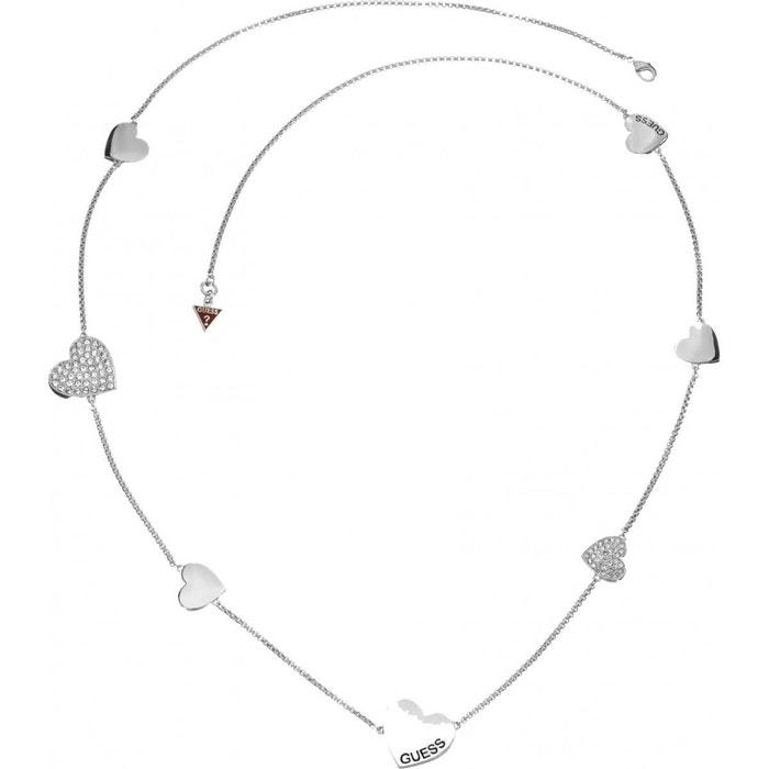 Prix Bon Marché Fiable Achat Pas Cher Collier guess en métal rhodié et ses 7 coeurs pour femme métal rhodié Guess | La Redoute À La Recherche De TPWI43