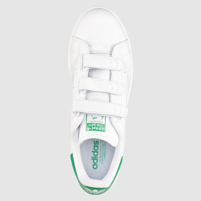 new products 2661e 0d60b Zapatillas con tira autoadherente stan smith cf blanco verde Adidas  Originals   La Redoute