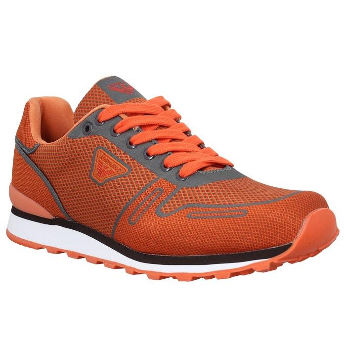 Armani jeans 9326 Orange Orange - Livraison Gratuite avec - Chaussures Basket Homme