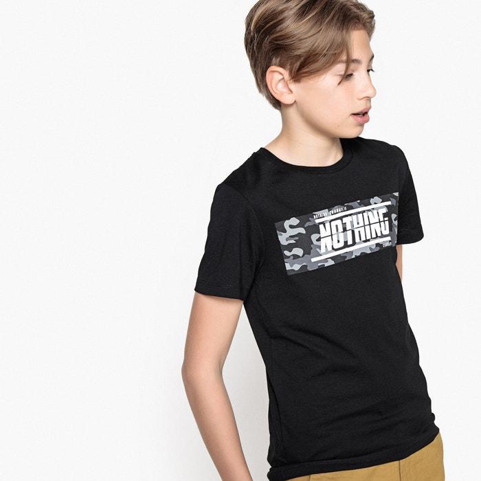 T-shirt scollo rotondo con scritta 10 - 16 anni  La Redoute Collections image 0