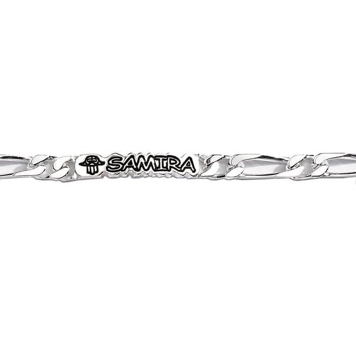 Bracelet 20 cm identité gourmette 1 + 1 luxe largeur 7 mm argent 925 couleur unique So Chic Bijoux | La Redoute