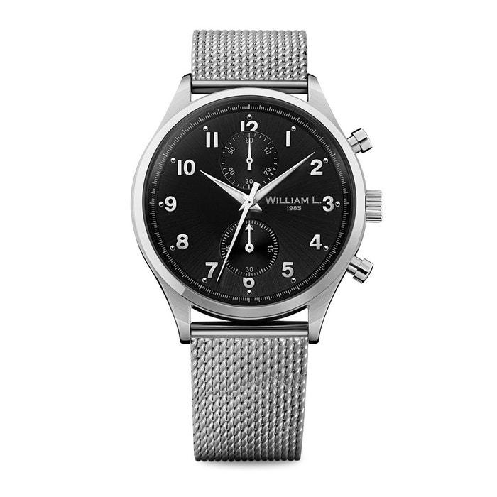 Montre acier vintage style small chronograph noir William L. 1985   La Redoute Magasin De Vente Qualité Aaa fMGI3Xz1nZ
