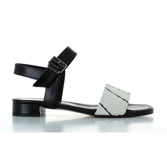 Sandales ambry 373  blanc/noir Elizabeth Stuart  La Redoute