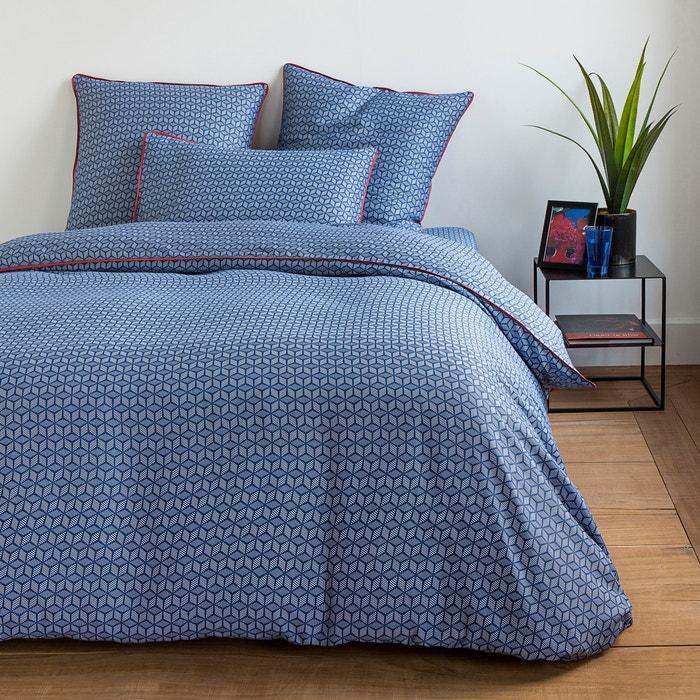 Copripiumone in satin di cotone blu, KEITEKI  La Redoute Interieurs image 0