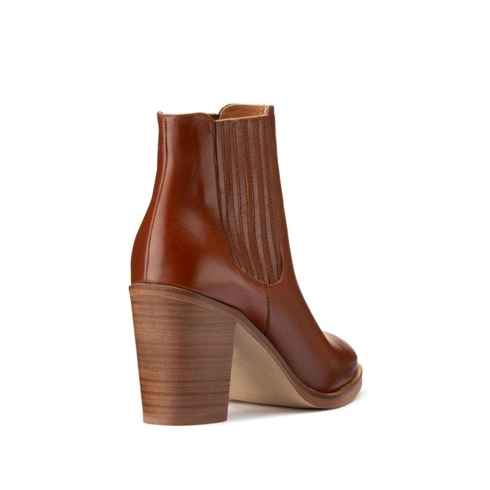 Diomar leather boots cognac Jonak | La Redoute