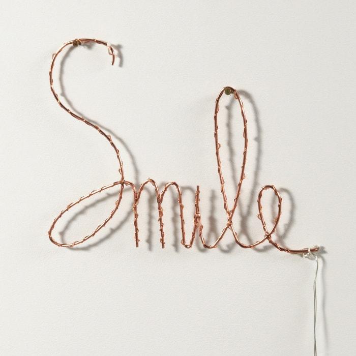 Imagen de Palabra Smile luminosa, Ojie La Redoute Interieurs