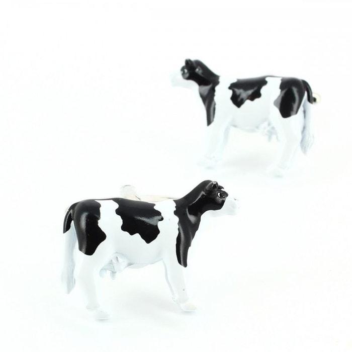 Bouton de manchette, vache bretonne pie noir blanc Cravate Avenue Signature | La Redoute
